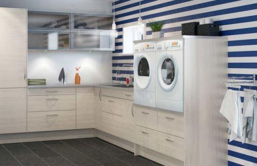 Badrum tvättstuga badrum : Funktionell tvättstuga underlättar arbetet.