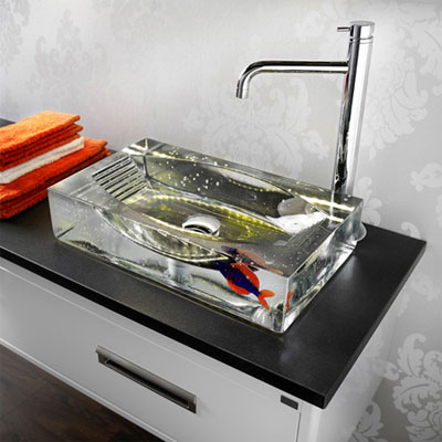 Handfat i glas badrum