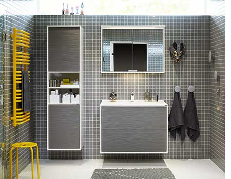 Badrumsmöbler och badrumsinredning som fångar badrumstrender.