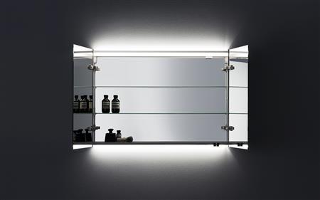 Aspen Badrum - Spegelskåp med ovanbelysning