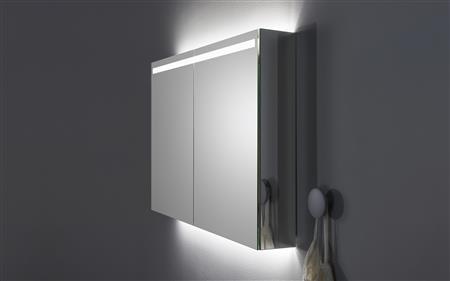 Aspen Badrum - Spegelskåp med infälld belysning