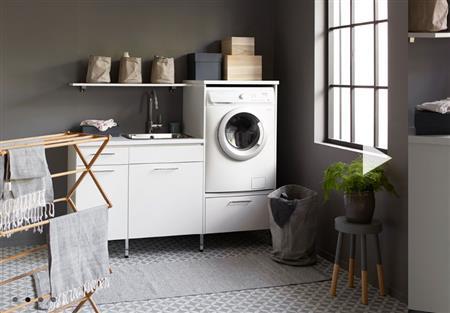Inredning tvättstuga klinker : En tvättstuga för att fÃ¥ ordning pÃ¥ tvätten   Badrumsportalen®