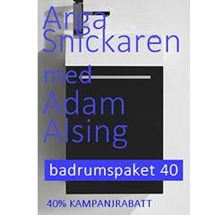 Arga Snickare kampanj på Swedmart badrumspaket