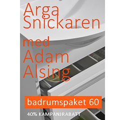 Swedmart i samarbete med Arga Snickaren - kampanj på badrumspaket